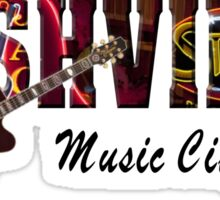 Nashville Music City USA Sticker