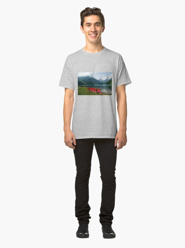 Alternate view of Red bench with a view Classic T-Shirt