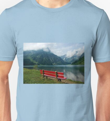 Red bench with a view T-Shirt