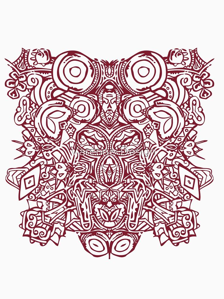 «Maya - Motif 1 - Bordeaux» par Varenne-Design