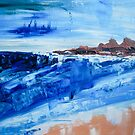 Alone By The Sea Abstract Seascape by Eliza Donovan