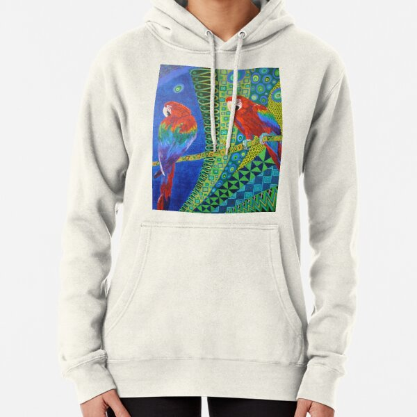 Two Scarlet Macaws Pullover Hoodie