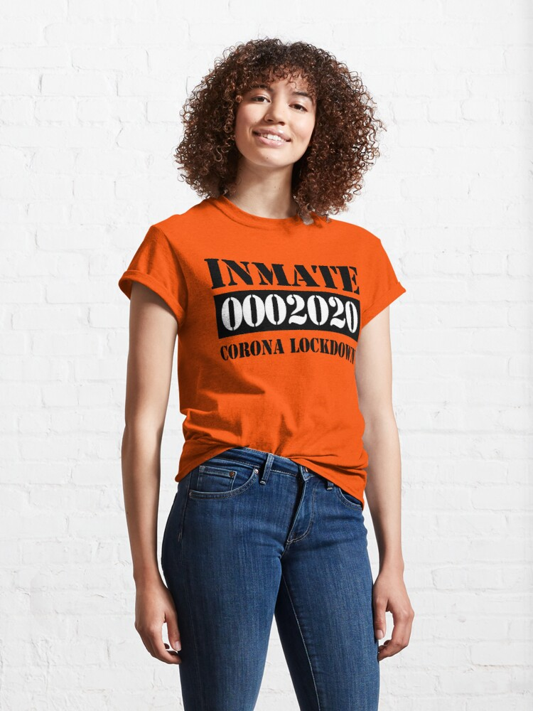 Alternate view of Orange prisoner costume Classic T-Shirt