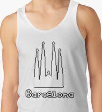 Camisetas de tirantes para hombre Barcelona - letras negras 7915390c974