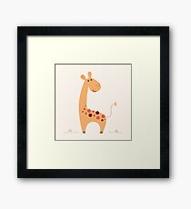 Beautiful Yellow artist Safari Giraffe Framed Print