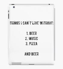 beer, music, pizza iPad Case/Skin