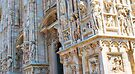 sculptures of south and west facade. Duomo. Milan by terezadelpilar ~ art & architecture