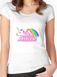 """""""pink Attitude"""" Women's Fitted Scoop T-Shirt"""