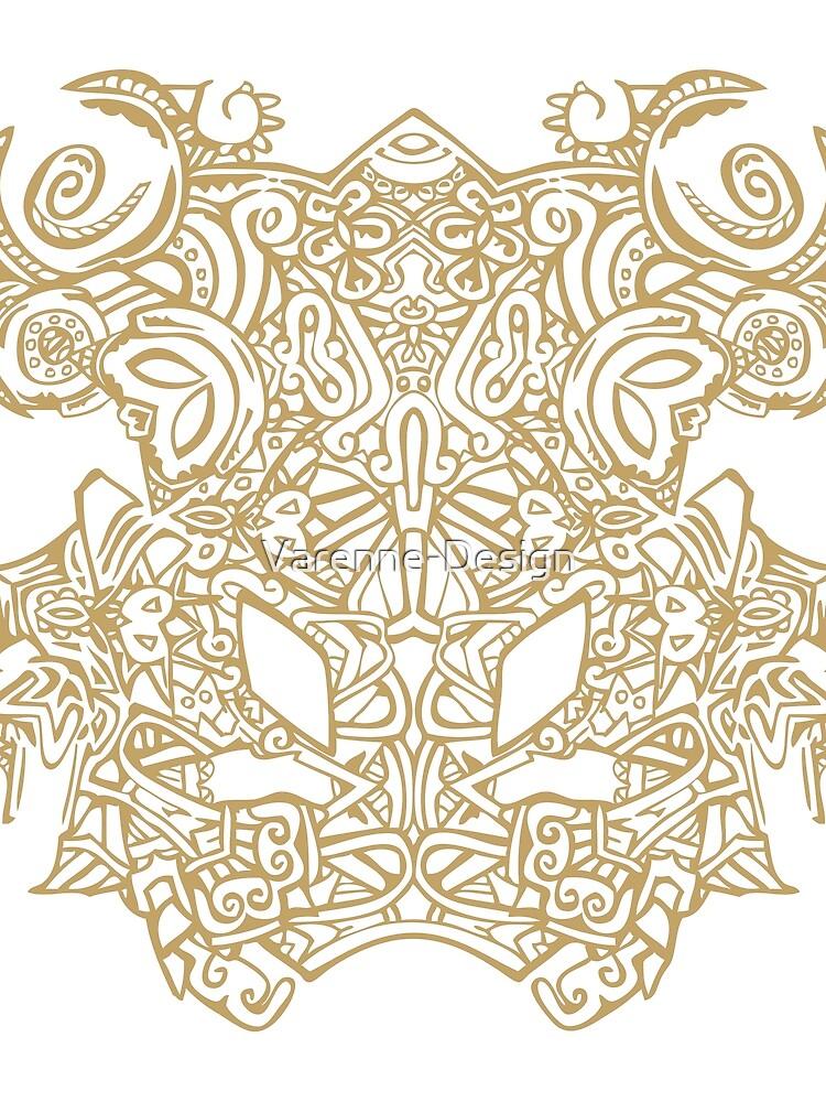 «Maya - Motif 2 - Or» par Varenne-Design