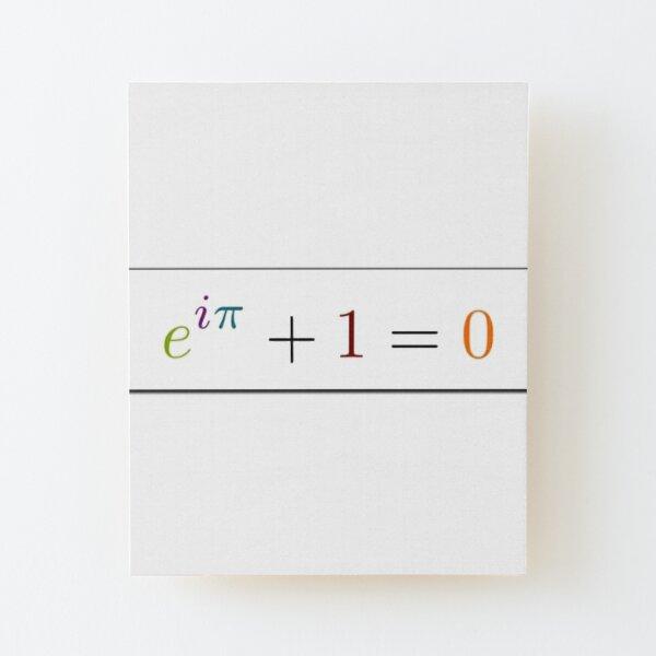 Math Wood Mounted Print