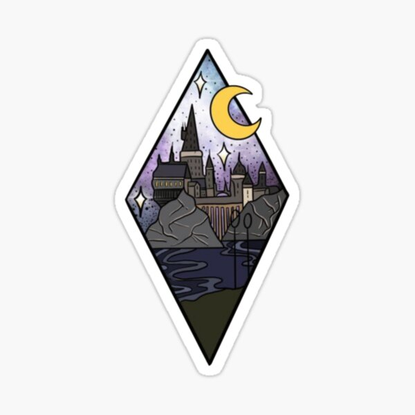 Croissant de lune du château magique Sticker