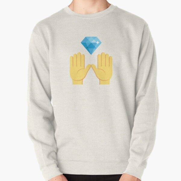 Crypto des stocks de mains de diamant Sweatshirt épais