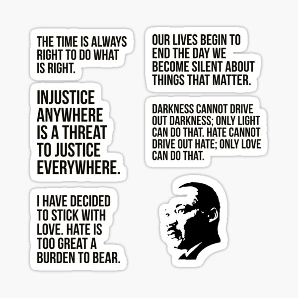 quotes by martin luther king jr pack  Sticker