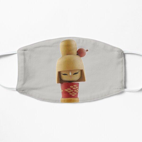Traditional Japanese Wooden Kokeshi Doll (#5) Flat Mask
