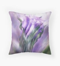 Purple Calla Lilies In Calla Vase Throw Pillow