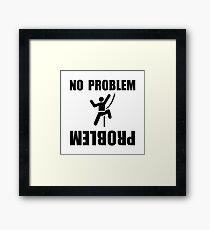 Climbing Problem Framed Print