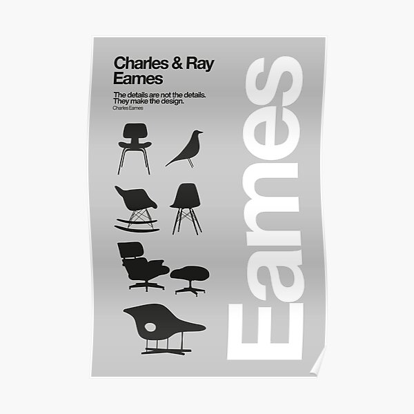 Eames Chairs Collections Poster
