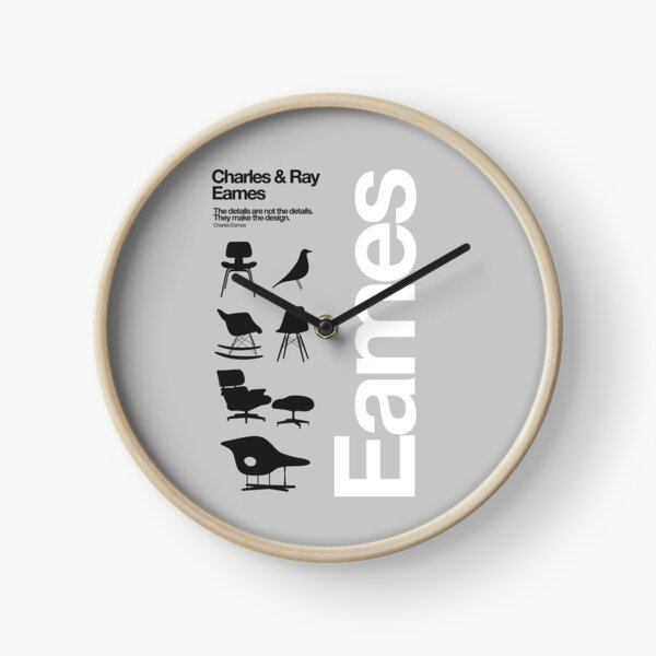 Eames Chairs Collections Clock