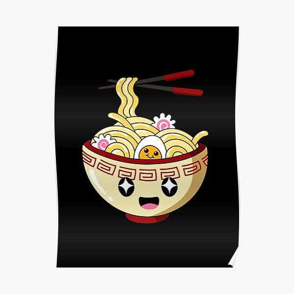 Kawaii Bowl of Cute Instant Ramen Poster