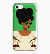 Green Glasses Postcard Girl iPhone Case/Skin