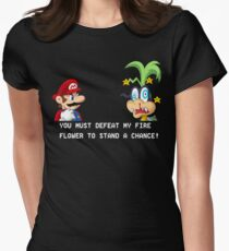 Super Street Fighter Mario Women's Fitted T-Shirt
