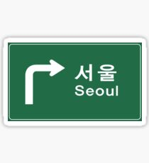 Seoul, Road Sign, South Korea Sticker