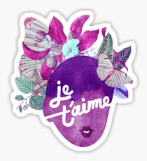 Je T'aime Botanical Print Sticker