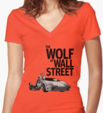THE WOLF OF WALL STREET-LAMBORGHINI COUNTACH Women's Fitted V-Neck T-Shirt