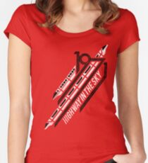 Monorail Red T-Shirt  Women's Fitted Scoop T-Shirt