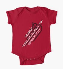 Einschienenbahn rotes T-Shirt Baby Body Kurzarm