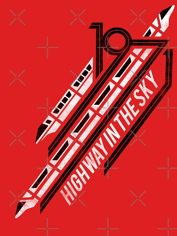 Einschienenbahn rotes T-Shirt von retrocot