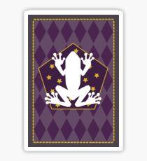 Chocolate frog card Sticker