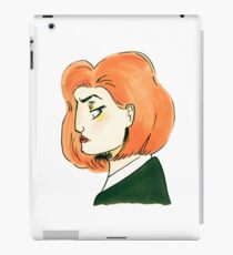 skeptical scully iPad Case/Skin