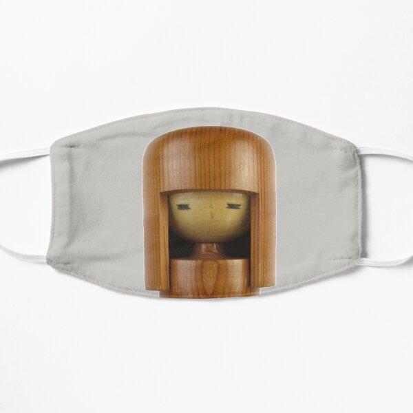 Traditional Japanese Wooden Kokeshi Doll (#9) Flat Mask