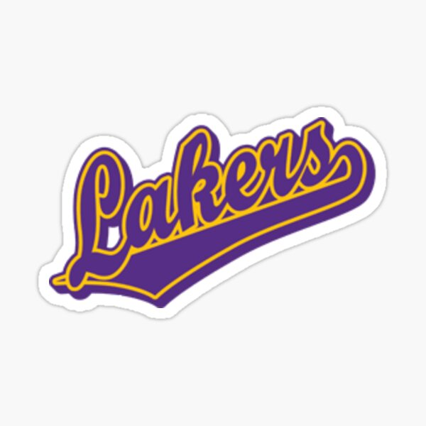 Lakers pennant Sticker