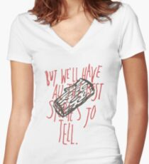 The Ballad Of Me And My Friends Women's Fitted V-Neck T-Shirt