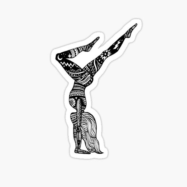 Yoga Girl - Hand Stand  Sticker