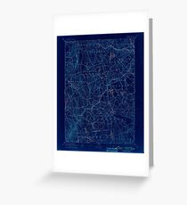 USGS TOPO Map Connecticut CT Gilead 331027 1892 62500 Inverted Greeting Card
