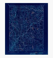 USGS TOPO Map Connecticut CT Gilead 331027 1892 62500 Inverted Photographic Print
