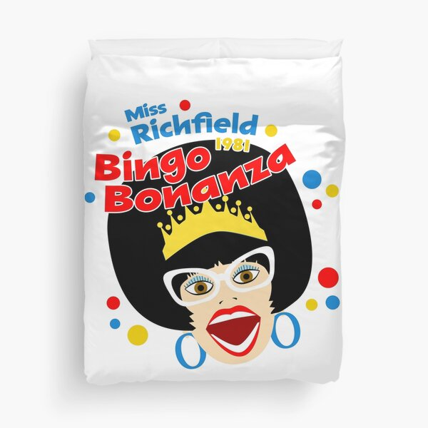 Miss R Polka Dots Bingo Bonanza Duvet Cover