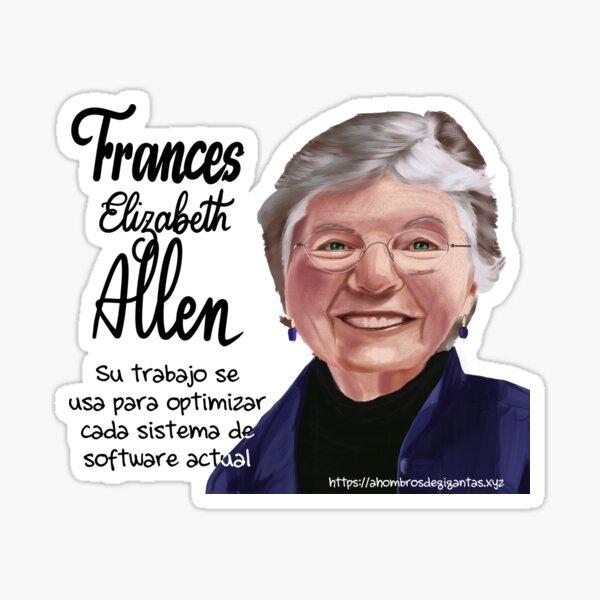 Frances Allen Sticker