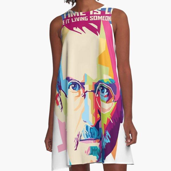 Steve Jobs Pop Art WPAP A-Line Dress