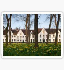 Brugge, Belgium, Begijnhof Ten Wijngaerde Sticker