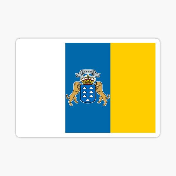 Bandera de Canarias Pegatina