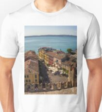 Lake Garda and Sirmione Old city in Italy T-Shirt