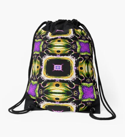 Purple Tiled Passion  Drawstring Bag