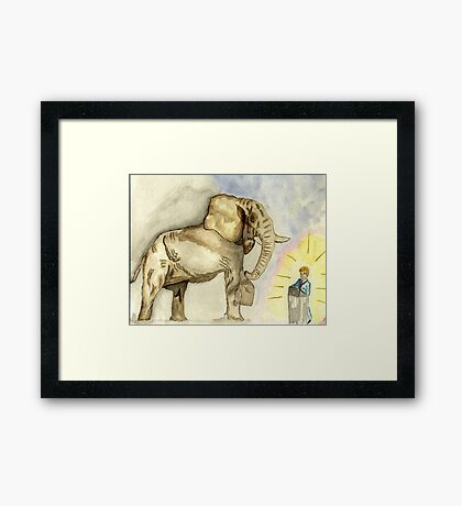 Rage, Rage  against the dying of the Light. Framed Print