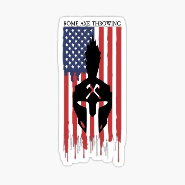 The Axe Shoppe | Rome Axe Throwing American Flag Sticker