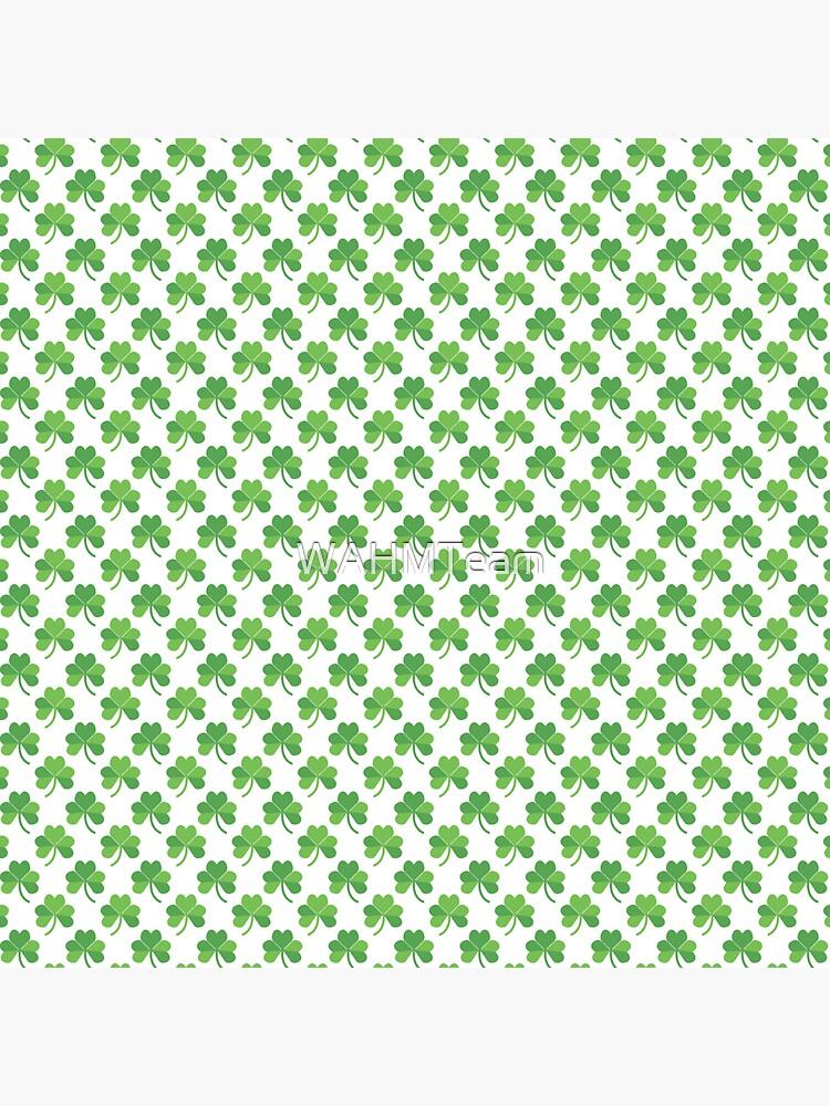 Green Shamrocks St. Patrick's Day Pattern by WAHMTeam