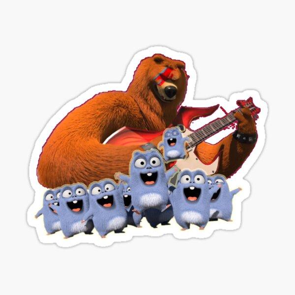 Grizzy et lemmings chanteur drôle Grizzy Sticker